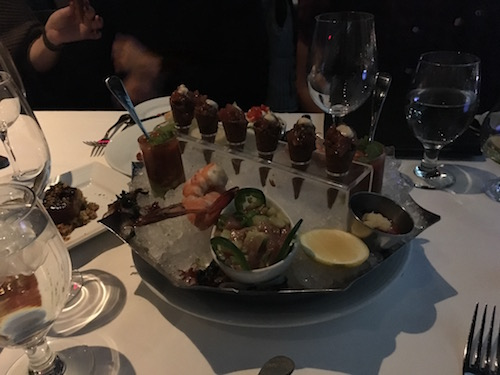 Seafood platter. Fish cones y'all!